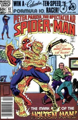 Peter Parker, The Spectacular Spider-Man Vol 1 63.jpg