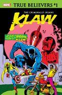True Believers The Criminally Insane - Klaw Vol 1 1