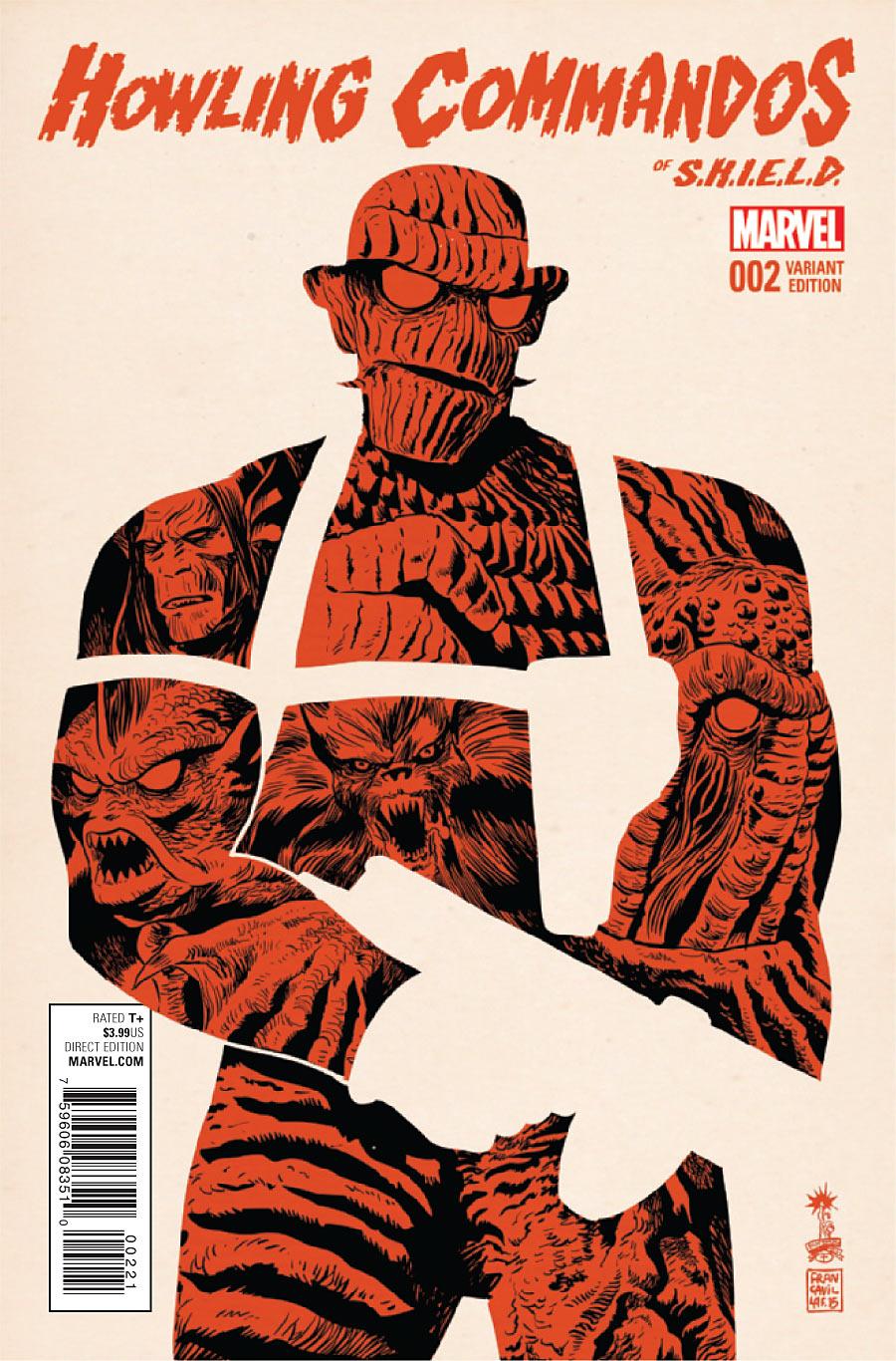 Howling Commandos of S.H.I.E.L.D. Vol 1 2 Francavilla Variant.jpg