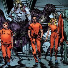 Norman Osborn (Earth-616), Pryor Cashman (Earth-616), Ai Apaec (Earth-616), June Covington (Earth-616) and Xirdal (Earth-616) from Osborn Vol 1 2 0001.jpg