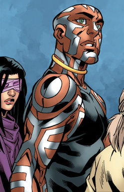 Nezhno Abidemi (Earth-616) and Ruth Aldine (Earth-616) from New X-Men Vol 2 23 0001.jpg