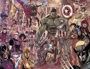 Avengers (Earth-616), Euroforce (Earth-616), Next Avengers (Earth-10943), Ascendants (Earth-616), and others from Avengers World Vol 1 14 001