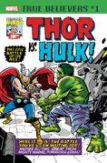 True Believers Kirby 100th - Thor vs. Hulk Vol 1 1