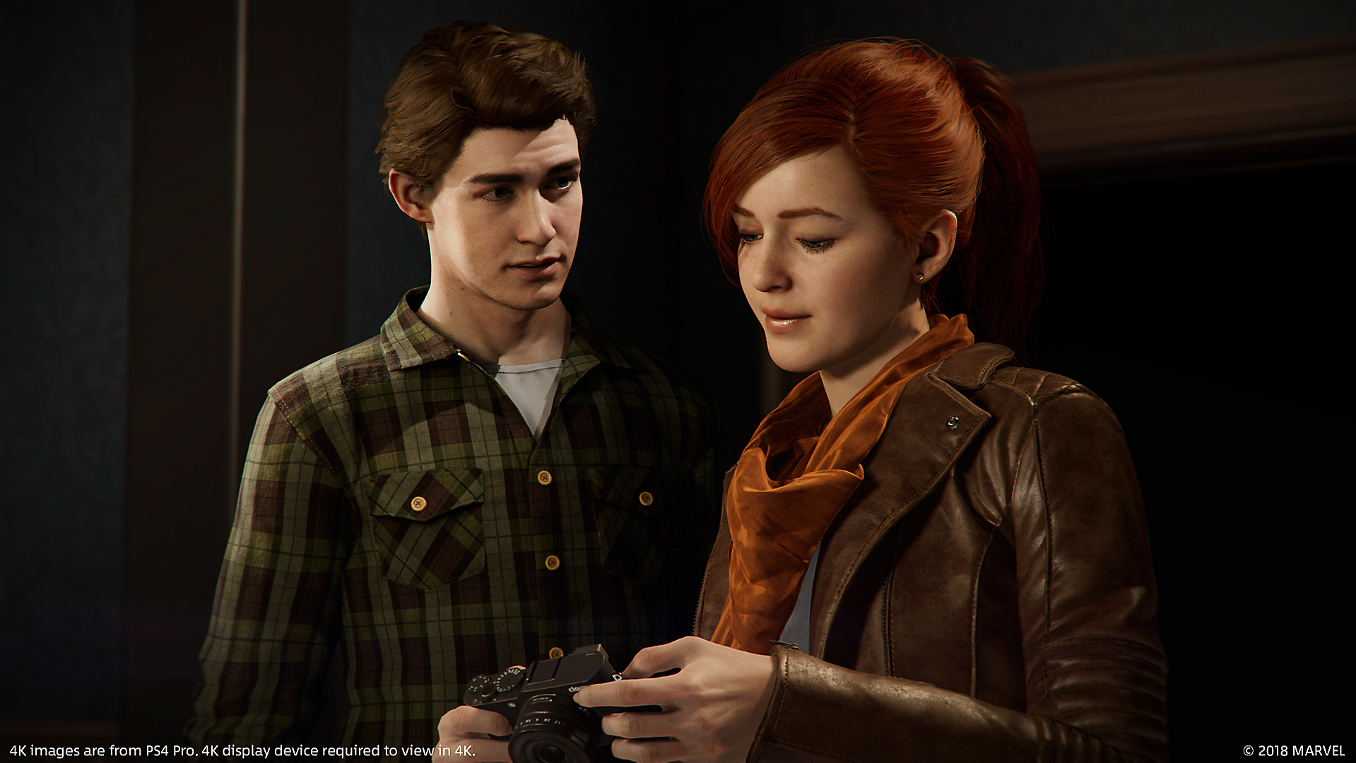 Mary Jane Watson (Earth-1048) and Peter Parker (Earth-1048) from Marvel's Spider-Man (video game) 0001.png