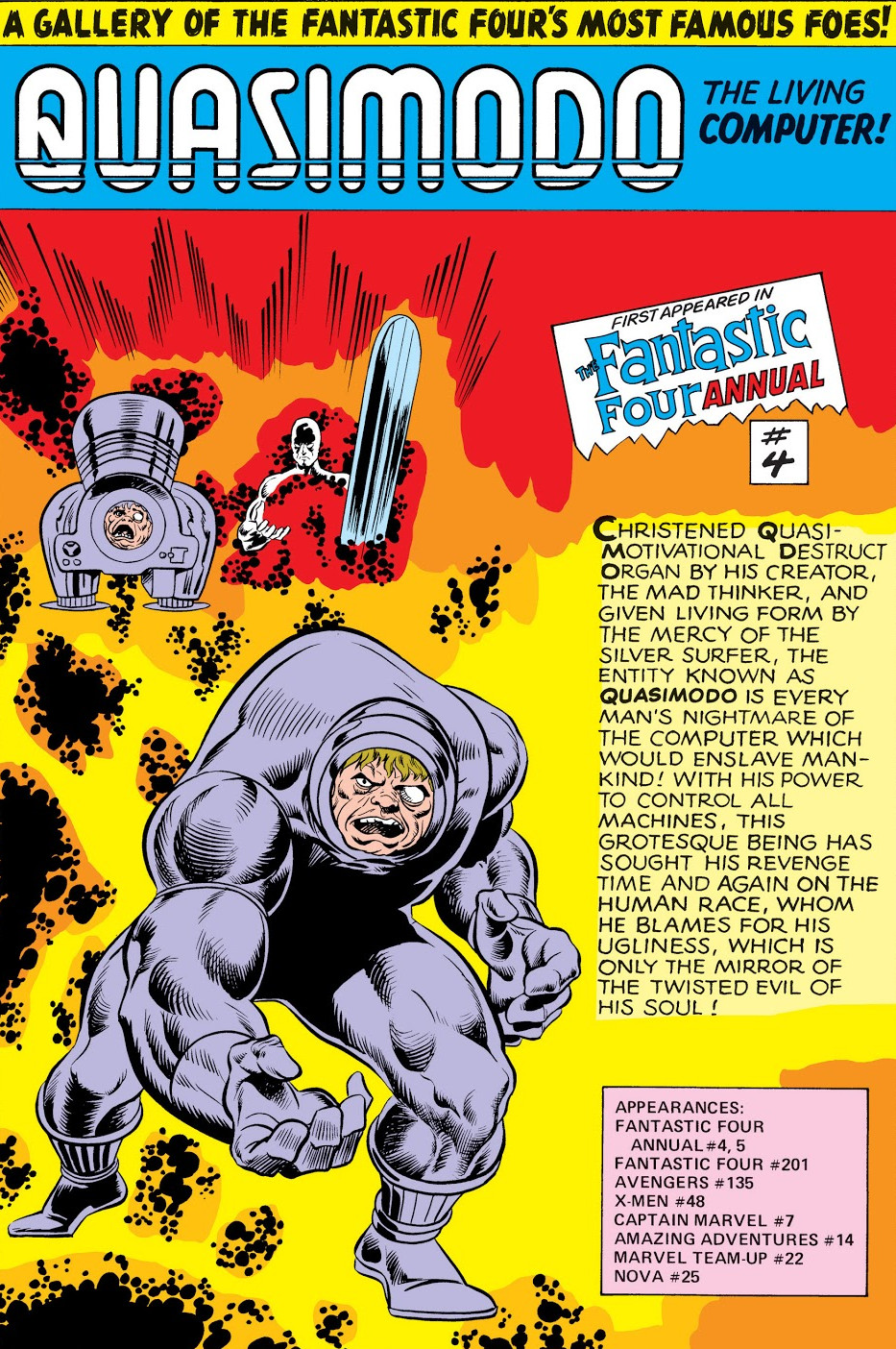 Quasi-Motivational Destruct Organism (Earth-616) from Fantastic Four Annual Vol 1 14 0001.jpg