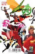 Avengers Vol 5 23 50 Years of Avengers Variant
