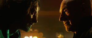 Charles Xavier (Earth-TRN414) and Charles Xavier (Earth-10005) from X-Men Days of Future Past (film) 001.jpg
