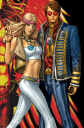 Emma Frost (Earth-616) and Scott Summers (Earth-616) from Uncanny X-Men Vol 1 497 cover