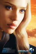 Fantastic Four Rise of the Silver Surfer (film) poster Invisble Woman 1