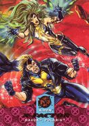 Alexander Summers (Earth-616) and Lorna Dane (Earth-616) from Ultra X-Men (Trading Cards) 001