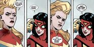 Carol Danvers (Earth-616) and Jessica Drew (Earth-616) from Avengers The Enemy Within Vol 1 1 001