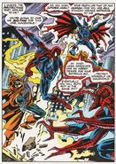 Demogoblin (Earth-616), Jason Macendale Jr. (Earth-616), Peter Parker (Earth-616), and Doppelganger (Spider-Man) (Earth-616) from Web of Spider-Man Vol 1 95 001