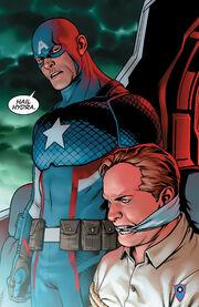 Steven Rogers (Earth-61311) and Erik Selvig (Earth-616) from Captain America Steve Rogers Vol 1 1 001.jpg