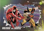 James Howlett and Matthew Murdock (Earth-616) from Marvel Universe Cards Series III 0001
