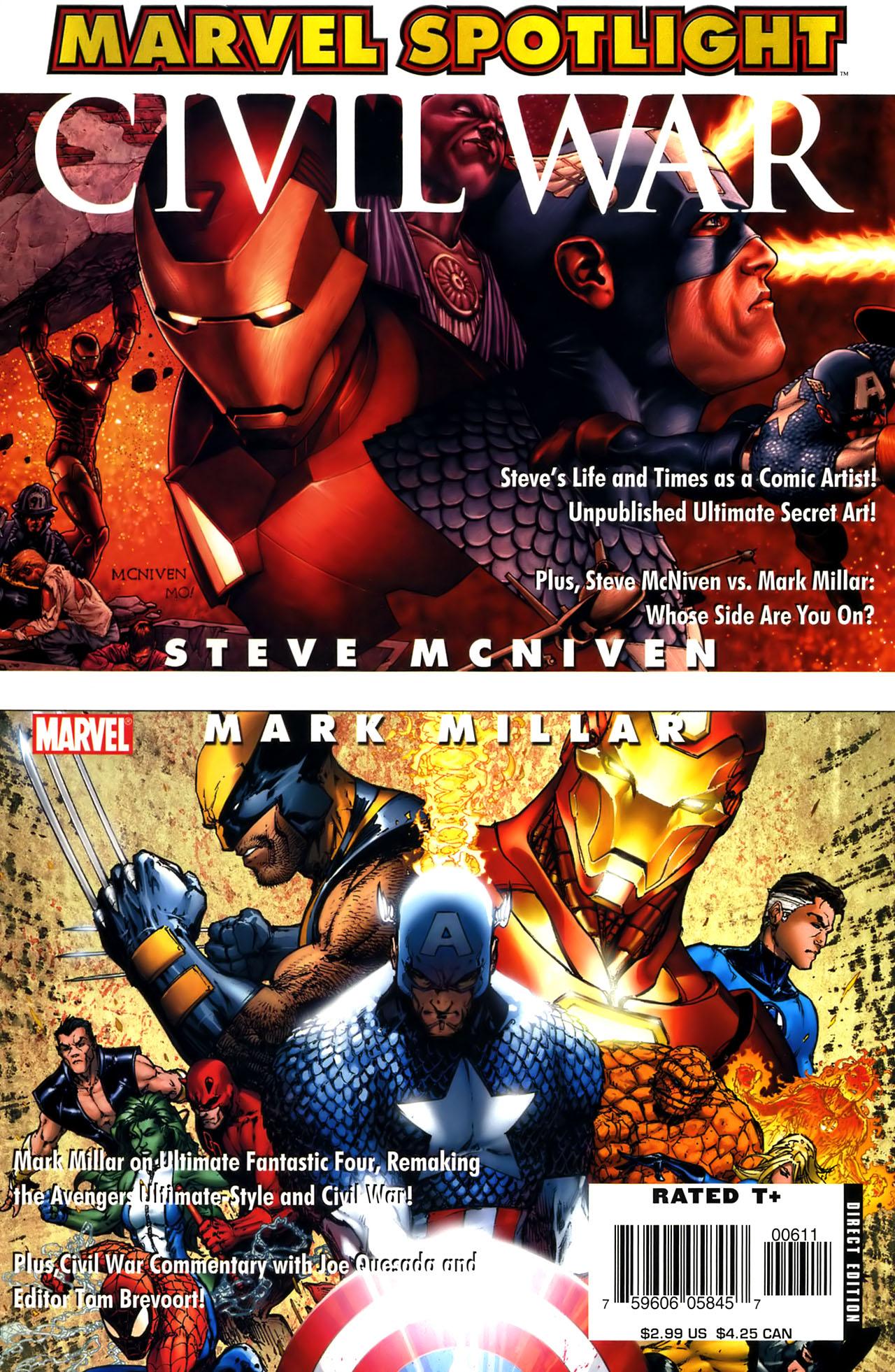 Marvel Spotlight: Mark Millar/Steve McNiven Vol 1 1