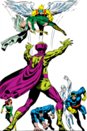 Mesmero (Vincent) (Earth-616) and X-Men (Earth-616) from X-Men Vol 1 50