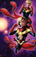 Captain Marvel Vol 9 3 Women of Power Variant Textless
