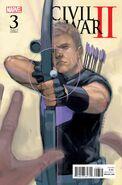 Civil War II Vol 1 3 Hawkeye Variant