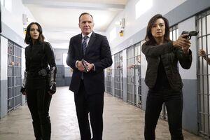 Daisy Johnson (Earth-199999), Phillip Coulson (Earth-199999) and Melinda May (Earth-199999) from Marvel's Agents of S.H.I.E.L.D. Season 4 5 001.jpg