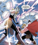Jane Foster (Earth-TRN875) and Thor Odinson (Earth-TRN874) from Thor & Loki Double Trouble Vol 1 3 001