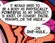 Thor Odinson (Earth-8096), Bruce Banner (Earth-8096), and Jennifer Walters (Earth-8096) from Marvel Universe Avengers - Earth's Mightiest Heroes Vol 1 8.png