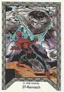 Bruce Banner (Earth-616) and Peter Parker (Earth-616) from Spider-Man Team-Up (Trading Cards) 002