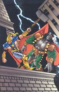 Thor Odinson (Earth-616) and Atalon (Earth-93060) from Battlezones Dream Team 2 Vol 1 1 0001