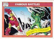 Anthony Stark vs. Boris Bullski (Earth-616) from Marvel Universe Cards Series I 0001