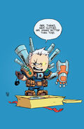 Cable and X-Force Vol 1 1 Baby Variant Textless