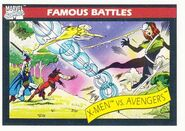 X-Men vs. Avengers (Earth-616) from Marvel Universe Cards Series I 0001