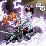 Aldrif Odinsdottir (Earth-616) and Sera (Earth-616) from Angela Queen of Hel Vol 1 2 001.jpg