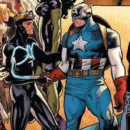 Alexander Summers (Earth-616) and Steven Rogers (Earth-616) from Avengers vs. X-Men Vol 1 11
