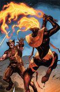 James Howlett (Earth-616) and War (First Horsemen) (Earth-616) from Wolverine Vol 7 7 001