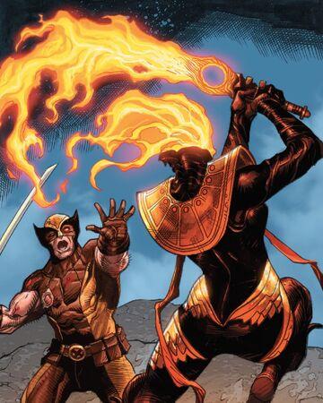 James Howlett (Earth-616) and War (First Horsemen) (Earth-616) from Wolverine Vol 7 7 001.jpg