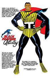 T'Challa (Earth-616) 's original costume design by Jack Kirby from Jungle Action Vol 2 10 0001.jpg