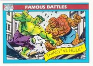 Benjamin Grimm vs. Bruce Banner (Earth-616) from Marvel Universe Cards Series I 001