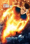 Fantastic Four Rise of the Silver Surfer (film) poster Torch 2