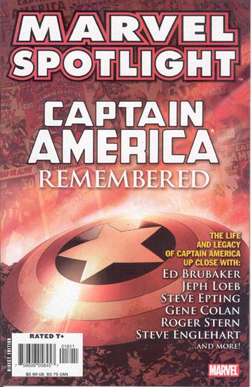 Marvel Spotlight: Captain America Remembered Vol 1 1