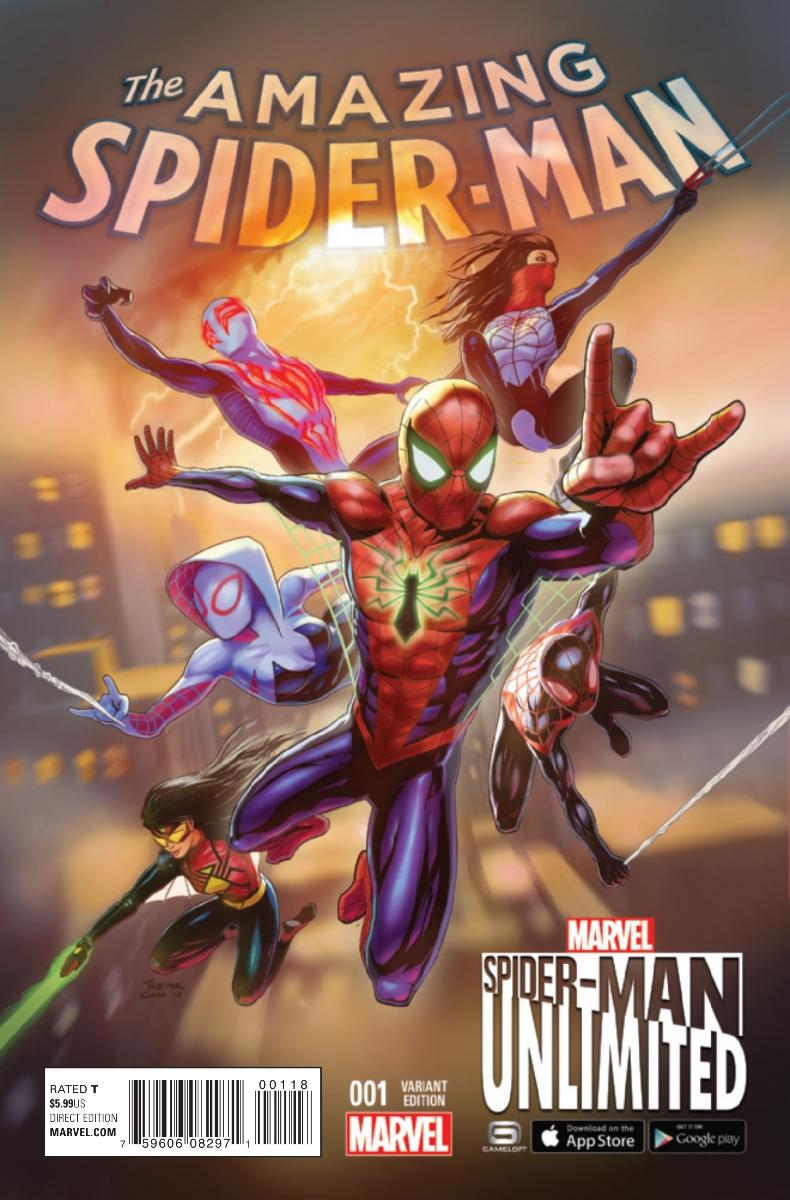 Amazing Spider-Man Vol 4 1 Spider-Man Unlimited Game Variant.jpg
