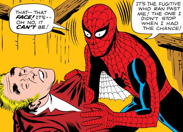 Peter Parker and Burglar (Earth-616) from Amazing Fantasy Vol 1 15 0001.jpg