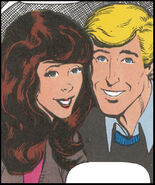 Brian Braddock (Earth-616) and Courtney Ross (Earth-616) from Captain Britain Vol 2 1 0001