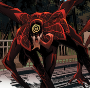 Miles Morales (Earth-1610) and Miles Morales' Symbiote (Earth-616) from Absolute Carnage Miles Morales Vol 1 2 001