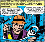 Nathaniel Richards (Rama-Tut) discovers ancient plans in Fantastic Four vol 1 19.jpg