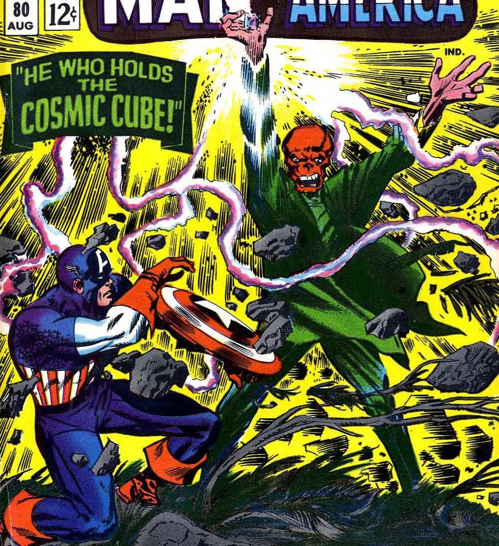 Steve Rogers (Earth-616) Captain America versus the Cosmic Cube powered Red Skull from Tales of Suspense Vol 1 80.jpg