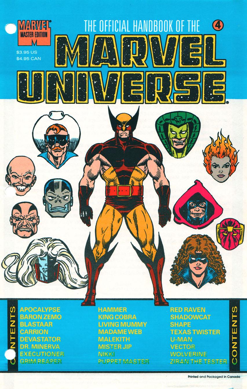Official Handbook of the Marvel Universe Master Edition Vol 1 4