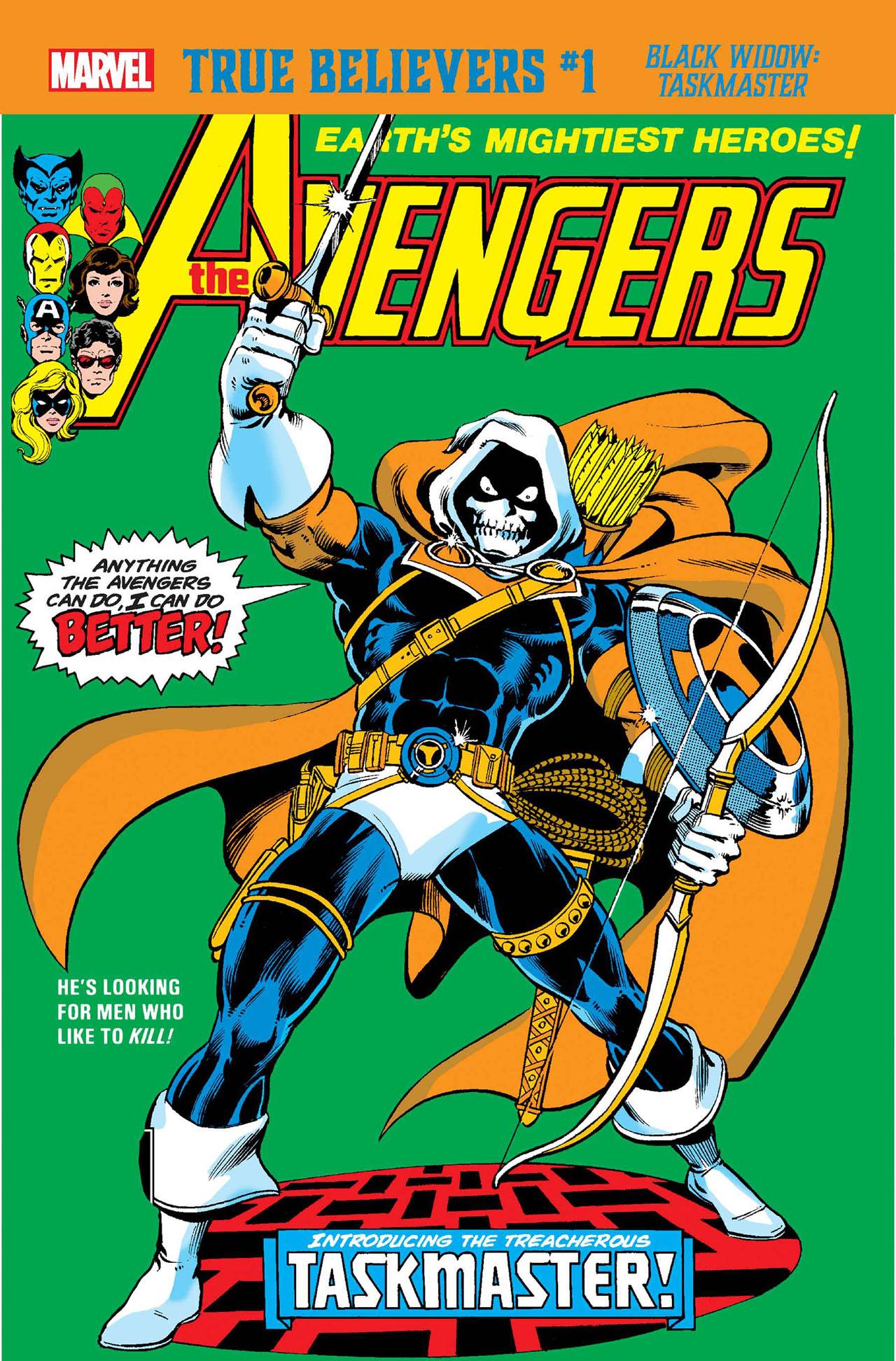 True Believers: Black Widow - Taskmaster Vol 1 1