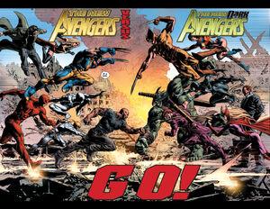 New Avengers (Earth-616) vs. Dark Avengers (Earth-616) from New Avengers Vol 2 20 0001.jpg