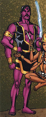 Indra (Deity) (Earth-616) from Thor & Hercules Encyclopaedia Mythologica Vol 1 1 0001.png