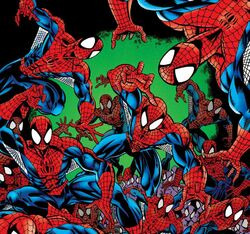 Spider-Clones (Earth-616) from Amazing Spider-Man Vol 1 404 001.jpg