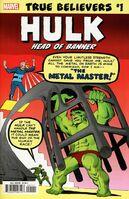 True Believers Hulk - Head of Banner Vol 1 1